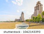 office building at jinjialin... | Shutterstock . vector #1062143393