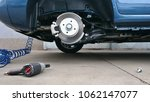 view of a car disc brake and... | Shutterstock . vector #1062147077