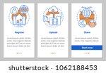 digital data storage onboarding ... | Shutterstock .eps vector #1062188453