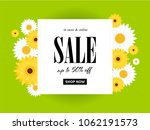 spring sale background with... | Shutterstock .eps vector #1062191573