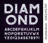 diamond alphabet font. luxury...   Shutterstock .eps vector #1062191747