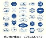 vector illustration with logo... | Shutterstock .eps vector #1062227843