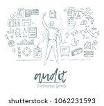 business concept  auditing  man ... | Shutterstock .eps vector #1062231593