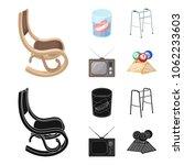 denture  rocking chair  walker  ... | Shutterstock .eps vector #1062233603