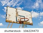 Old And Worn Basketball Board...