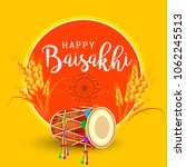 illustration of happy baisakhi... | Shutterstock .eps vector #1062245513