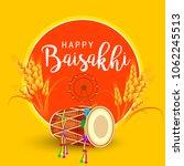 illustration of happy baisakhi... | Shutterstock .eps vector #1062245513