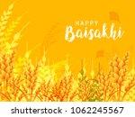 illustration of happy baisakhi... | Shutterstock .eps vector #1062245567