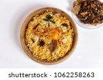 chicken biryani on white... | Shutterstock . vector #1062258263