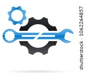 combination wrench and gear... | Shutterstock .eps vector #1062264857