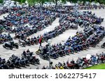 Small photo of KUALA LUMPUR, MALAYSIA -MARCH 31, 2018: Thousand of various brand motocycle parked in the large open area.