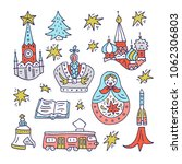doodle clipart of moscow... | Shutterstock .eps vector #1062306803