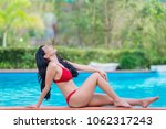 portrait of asian sexy woman at ... | Shutterstock . vector #1062317243