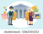 happy senior old people saving... | Shutterstock . vector #1062331313