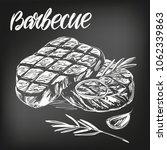 food meat  steak  roast set ... | Shutterstock .eps vector #1062339863