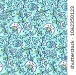 seamless ethnic vector floral... | Shutterstock .eps vector #1062350123
