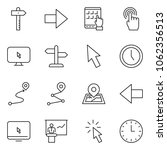 thin line icon set   tablet pc... | Shutterstock .eps vector #1062356513