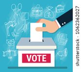voting concept in flat style  ...   Shutterstock .eps vector #1062362027