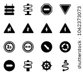 solid vector icon set   sign... | Shutterstock .eps vector #1062373073