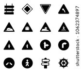 solid vector icon set   sign... | Shutterstock .eps vector #1062374897