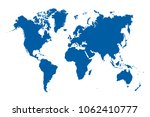 world map vector | Shutterstock .eps vector #1062410777