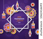 ramadan kareem concept banner...   Shutterstock .eps vector #1062416693