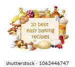 cooking blog illustration with... | Shutterstock .eps vector #1062446747