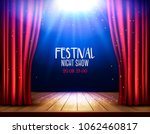 a theater stage with a red... | Shutterstock .eps vector #1062460817