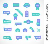 vector stickers  price tag ... | Shutterstock .eps vector #1062476597