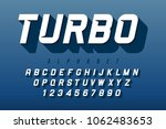 dynamic display font design ... | Shutterstock .eps vector #1062483653