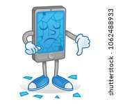 icon angry smartphone mobile... | Shutterstock .eps vector #1062488933