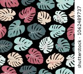 vector tropical pattern with... | Shutterstock .eps vector #1062489737