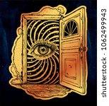 open door into a realm of... | Shutterstock .eps vector #1062499943
