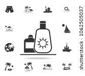 sun cream icon. detailed set of ... | Shutterstock .eps vector #1062505037