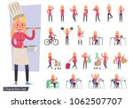 set of girl different lifestyle ... | Shutterstock .eps vector #1062507707