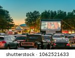 watching movies outdoors from... | Shutterstock . vector #1062521633