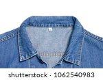 top of collar jean jacket on... | Shutterstock . vector #1062540983