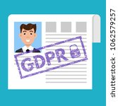general data protection... | Shutterstock .eps vector #1062579257