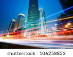 moving car with blur light... | Shutterstock . vector #106258823