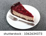 cheesecake with chocolate crumb ... | Shutterstock . vector #1062634373