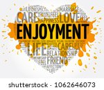 enjoyment word cloud collage ... | Shutterstock . vector #1062646073