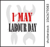 1st of may. labor day. symbol | Shutterstock .eps vector #1062675083