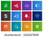 File sharing icon series in Metro style - stock vector