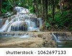 mae kae waterfall is unseen...   Shutterstock . vector #1062697133