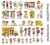 large set of children's... | Shutterstock .eps vector #1062697943