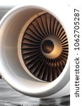 Small photo of Jet aircraft engine