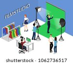 movie set  photoshoot with... | Shutterstock . vector #1062736517