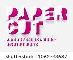 paper cut typography design vector/illustration | Shutterstock vector #1062743687