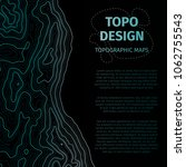 topographic map background with ... | Shutterstock .eps vector #1062755543