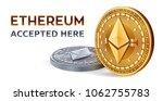 ethereum. accepted sign emblem. ... | Shutterstock .eps vector #1062755783